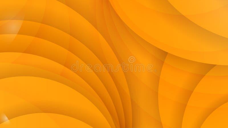 抽象背景颜色黄色 弯曲的线路 传染媒介Illust 向量例证