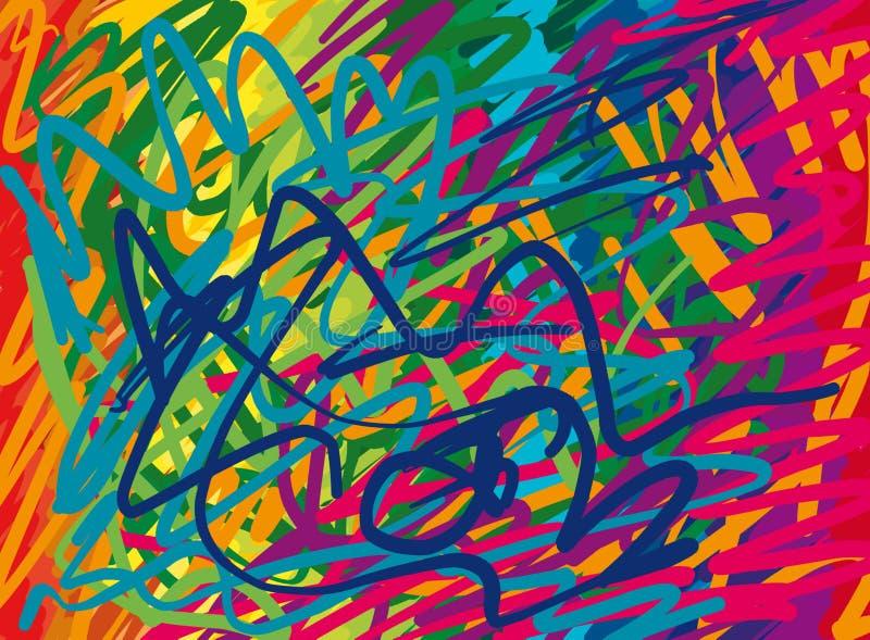 抽象背景颜色 库存例证