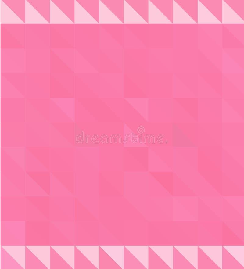 抽象背景马赛克 多色几何弄皱的三角低多样式例证图表背景 库存例证