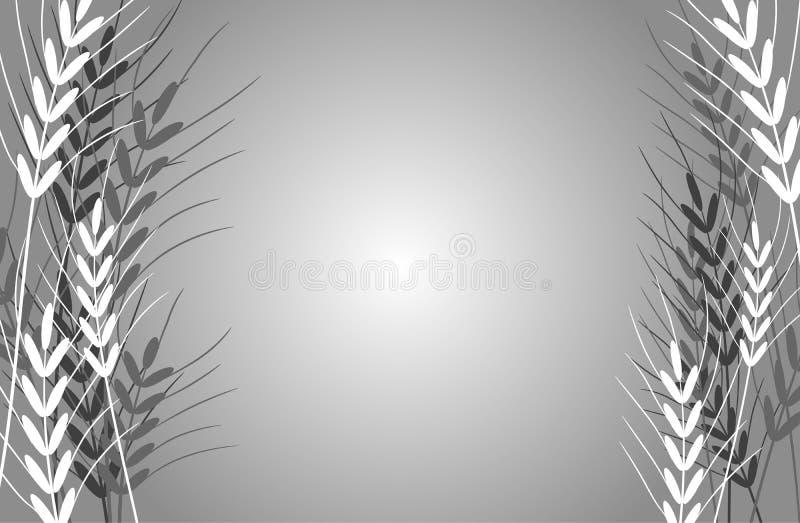 抽象背景麦子 向量例证