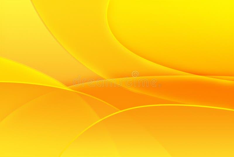 抽象背景黄色 皇族释放例证