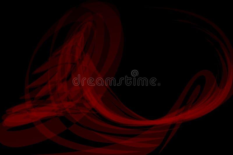 抽象背景黑色红色 也corel凹道例证向量 库存例证