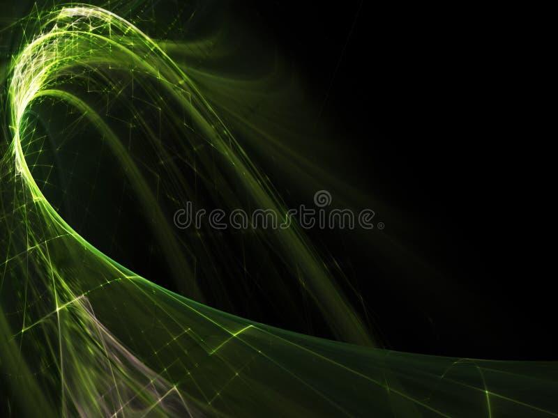 抽象背景黑色绿色 库存例证