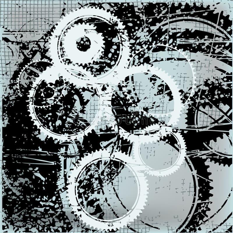 抽象背景齿轮 库存例证