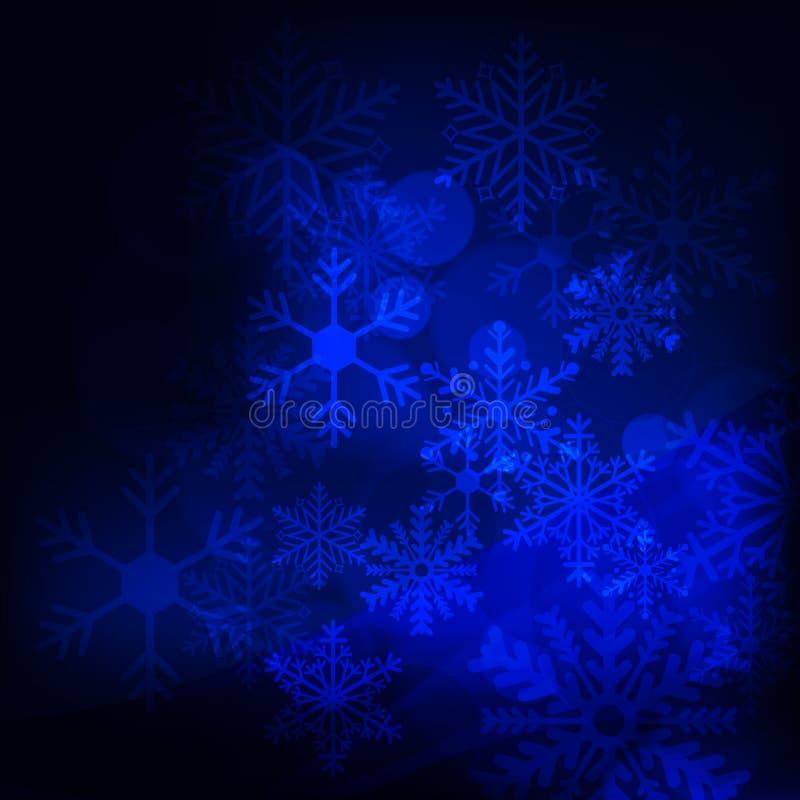 抽象背景,与星、雪花和模糊的光 库存照片