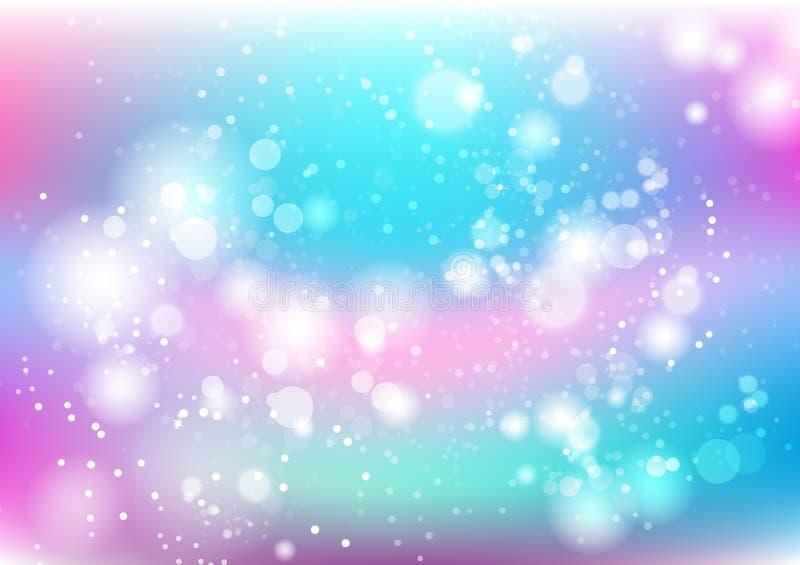 抽象背景,五颜六色的淡色微尘驱散和 向量例证