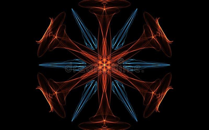 抽象背景,光亮打旋 典雅的发光的圈子 轻的圆环 引发微粒 E 皇族释放例证