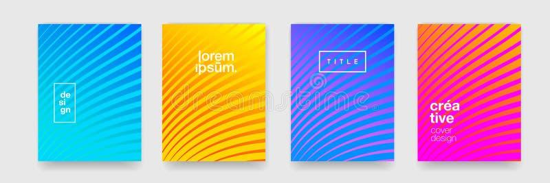 抽象背景,几何样式纹理 传染媒介创造性的形象艺术盖子设计,现代凉快的线颜色梯度 库存例证