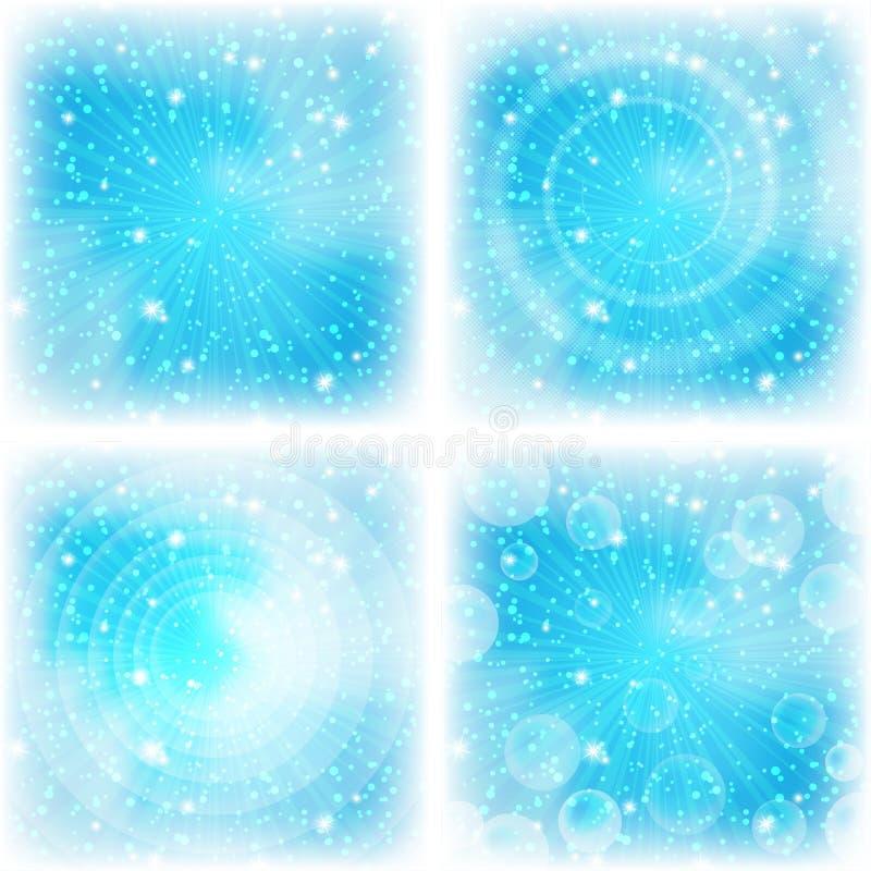 抽象背景,明亮的蓝色,集 皇族释放例证