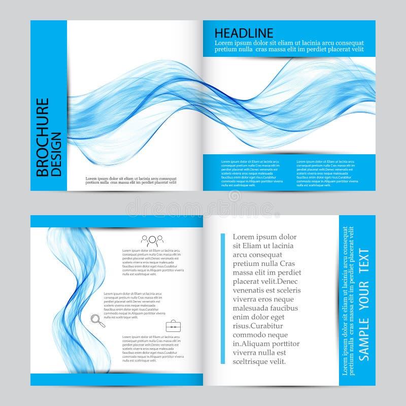 抽象背景,蓝色透明挥动的线 烟波浪 波浪 皇族释放例证