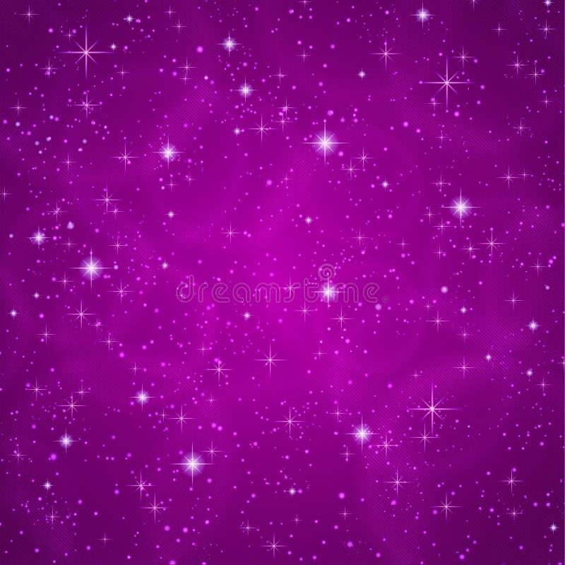 抽象背景:闪耀,闪光的星 皇族释放例证