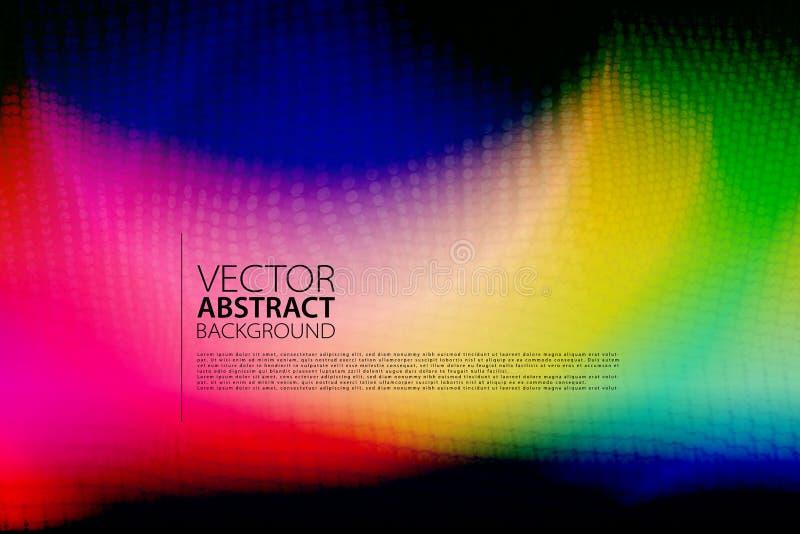 抽象背景 与光线影响的五颜六色的背景 导航艺术品的,党飞行物,海报例证 库存例证