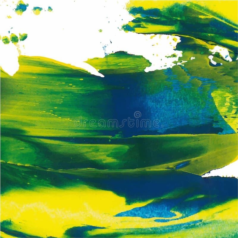 抽象背景 与粗胶边的画笔冲程 颜色刷子例证 库存例证