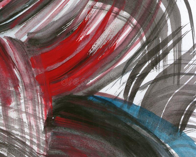 抽象背景绘了水彩 皇族释放例证