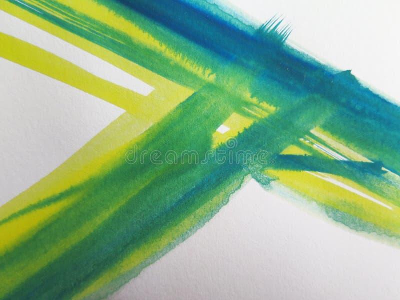 抽象背景绘了水彩 免版税图库摄影