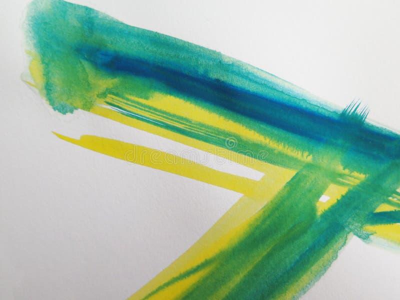 抽象背景绘了水彩 免版税库存图片