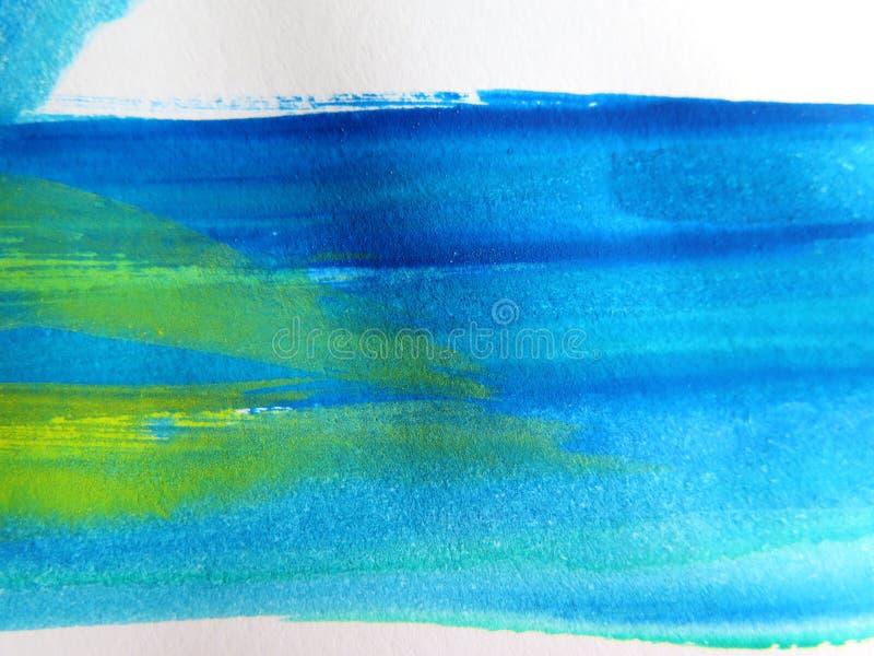 抽象背景绘了水彩 图库摄影