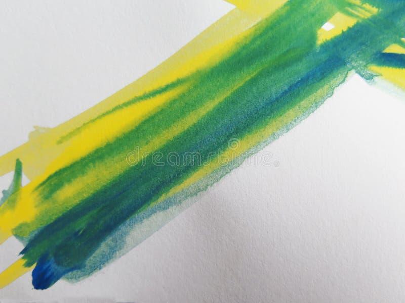 抽象背景绘了水彩 库存例证