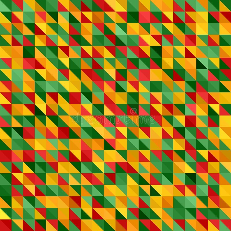 抽象背景 传染媒介无缝的三角几何样式 库存例证
