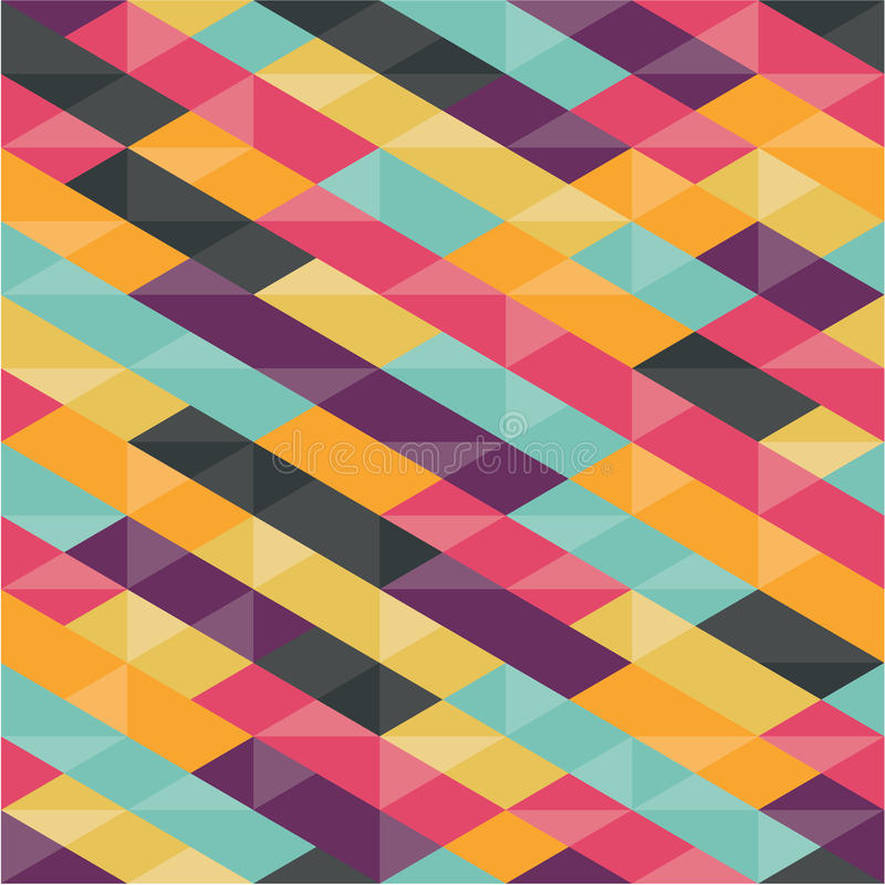 抽象背景-几何无缝的样式 皇族释放例证