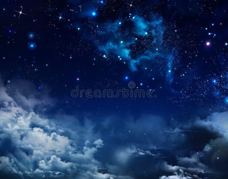 抽象背景满天星斗的天空 免版税库存照片