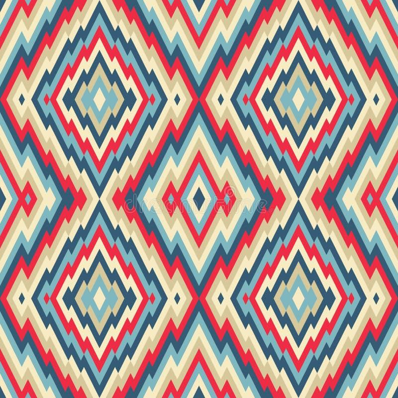 抽象背景-无缝的传染媒介样式 种族地毯例证样式 库存例证