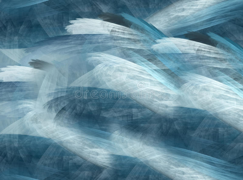 抽象背景水晶,分数维 免版税库存照片