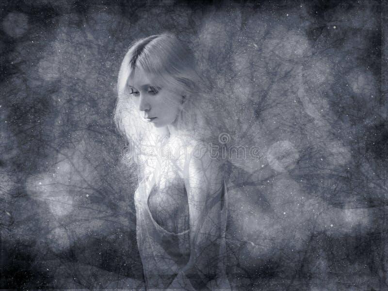 抽象背景黑白照片 免版税库存照片