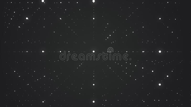 抽象背景 矩阵发光担任主角与深度幻觉  抽象未来派空间背景 库存例证