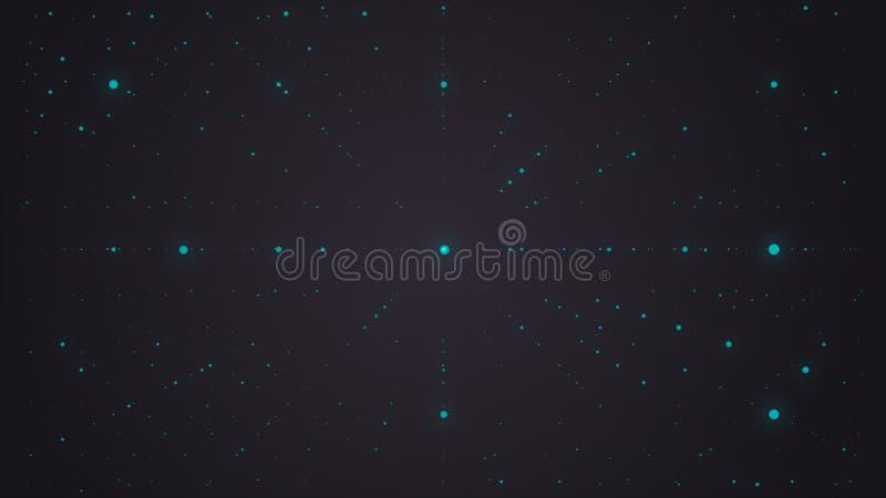 抽象背景 矩阵发光担任主角与深度幻觉  抽象未来派空间背景 皇族释放例证