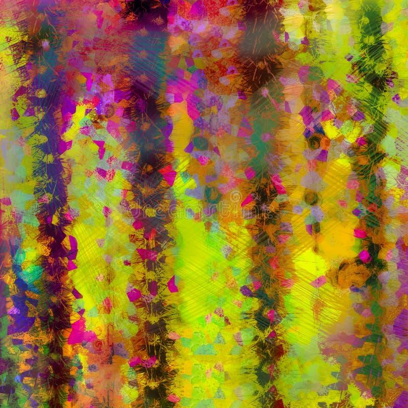 抽象背景破碎的织地不很细明亮的西南颜色 库存例证
