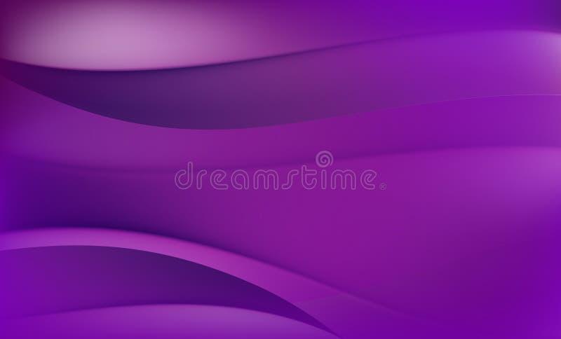 抽象背景 紫色和紫罗兰波浪 向量例证