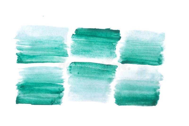 抽象背景绿色水彩 免版税库存图片