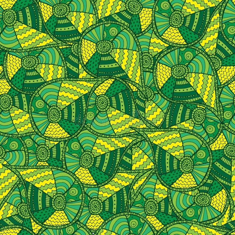 抽象背景绿色 无缝的模式 向量Illustratio 皇族释放例证