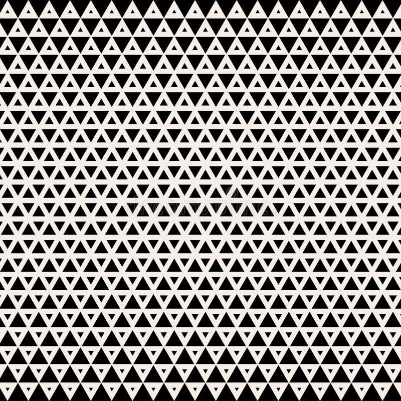 抽象背景 设计几何 抽象几何黑白图形设计印刷品半音三角样式 皇族释放例证