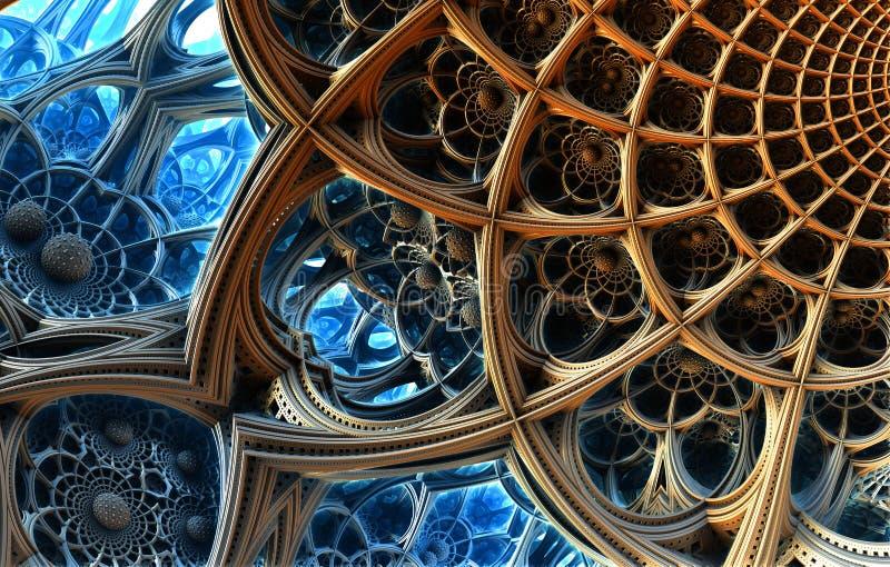 抽象背景3D 库存例证