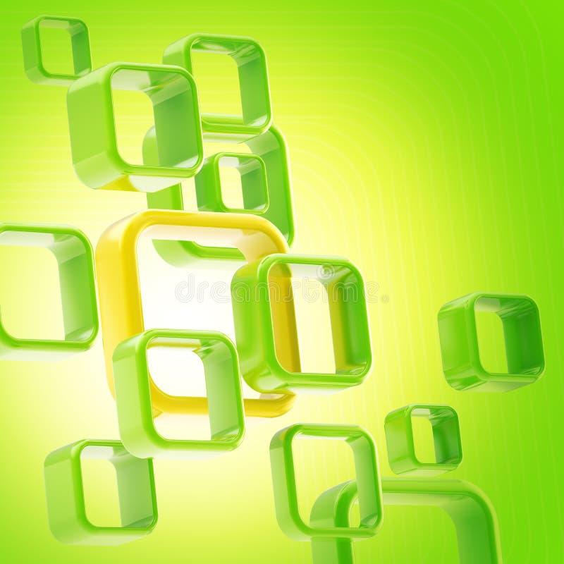 抽象背景copyspace绿灯 向量例证