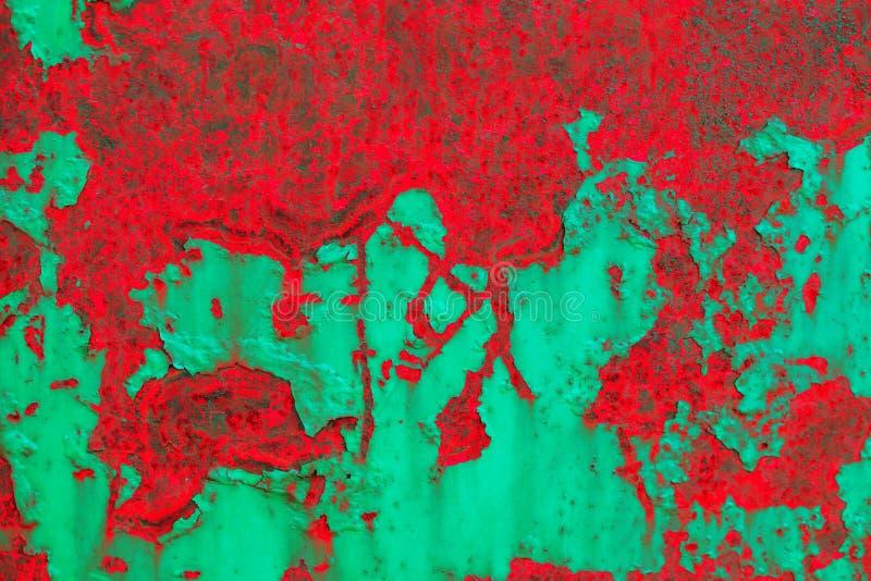 抽象背景grunge 详细的红和绿的纹理 免版税库存照片