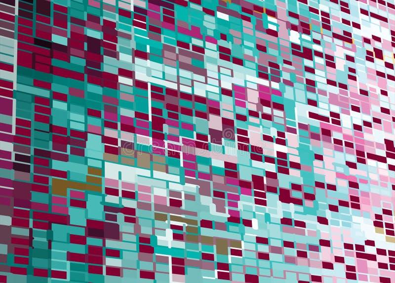 抽象背景mozaic透视图 库存例证