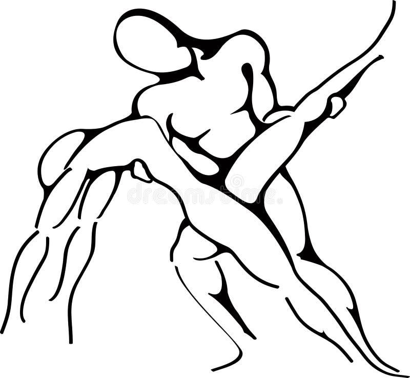 抽象舞蹈演员 库存例证