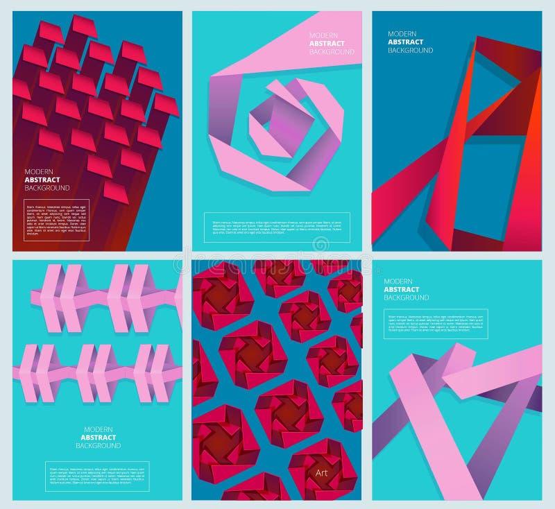 抽象色的盖子 几何现代形状简单的色的抽象业务设计传染媒介模板 皇族释放例证