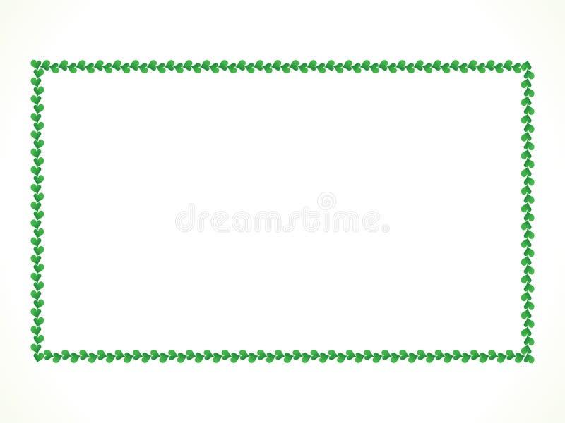 抽象艺术性的绿色心脏边界 库存例证