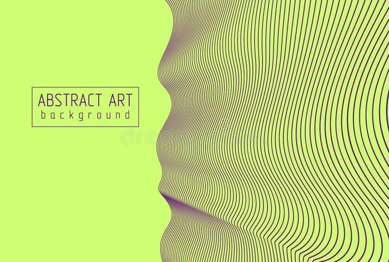 抽象艺术矢量线性背景、波浪线、节奏波 向量例证