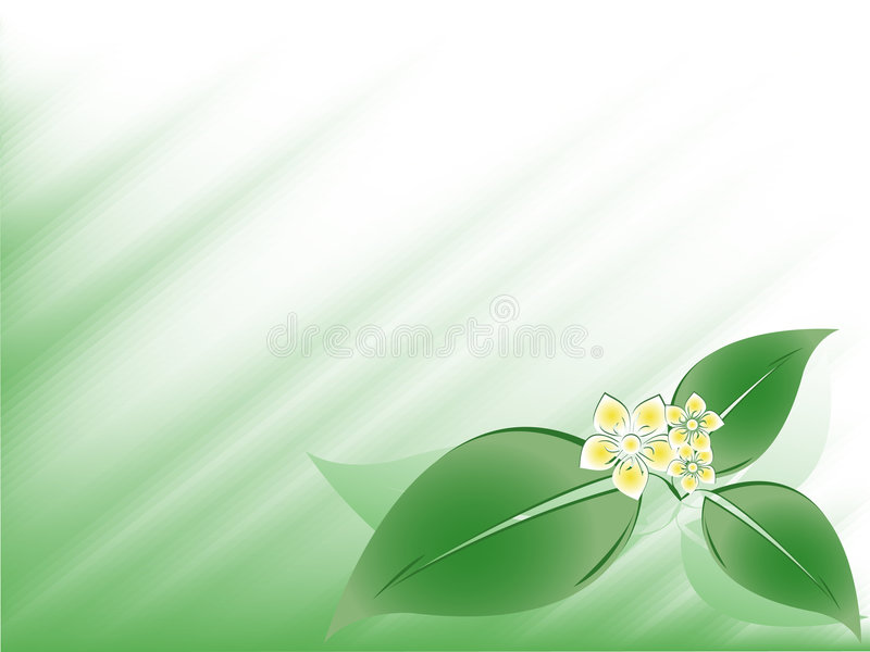 抽象花卉向量 皇族释放例证
