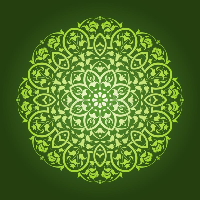 抽象花卉圆样式设计 向量例证