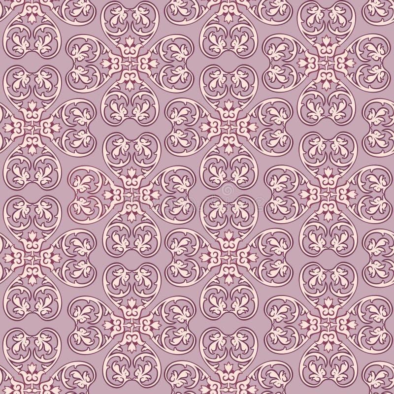 抽象花卉无缝的传染媒介纹理。 皇族释放例证