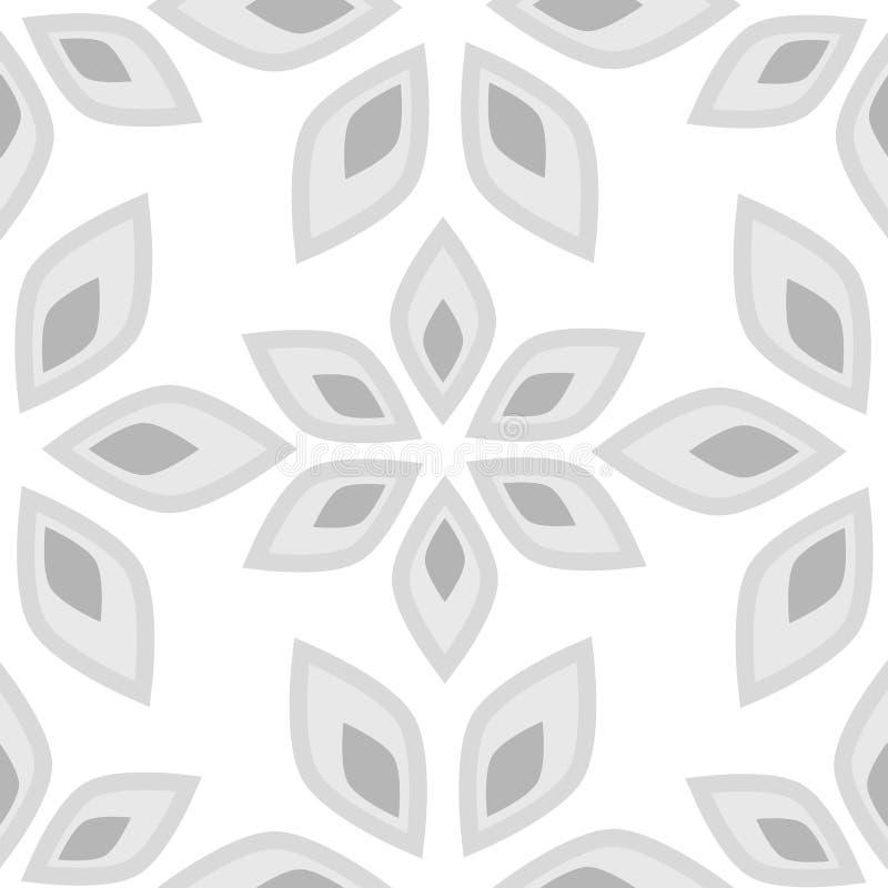 抽象花卉无缝的模式 库存例证