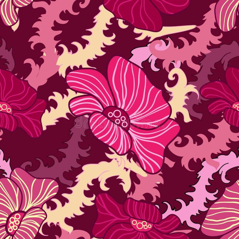 抽象花卉无缝的纹理 皇族释放例证