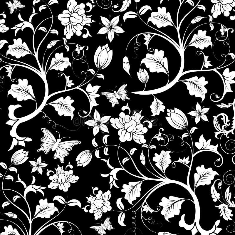 抽象花卉模式向量 库存例证