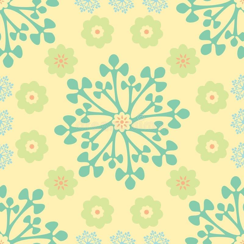 抽象花卉模式 向量例证